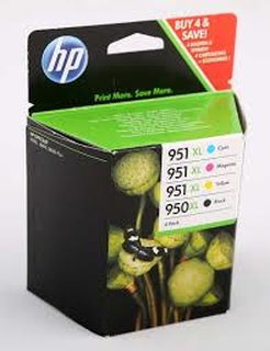 Multipack HP 950XL/951XL, C2P43AE (bcmy) originalverpackt